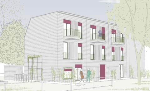 Wohnhausensemble, Berlin 2019–2021, z. Zt. Rohbauarbeiten